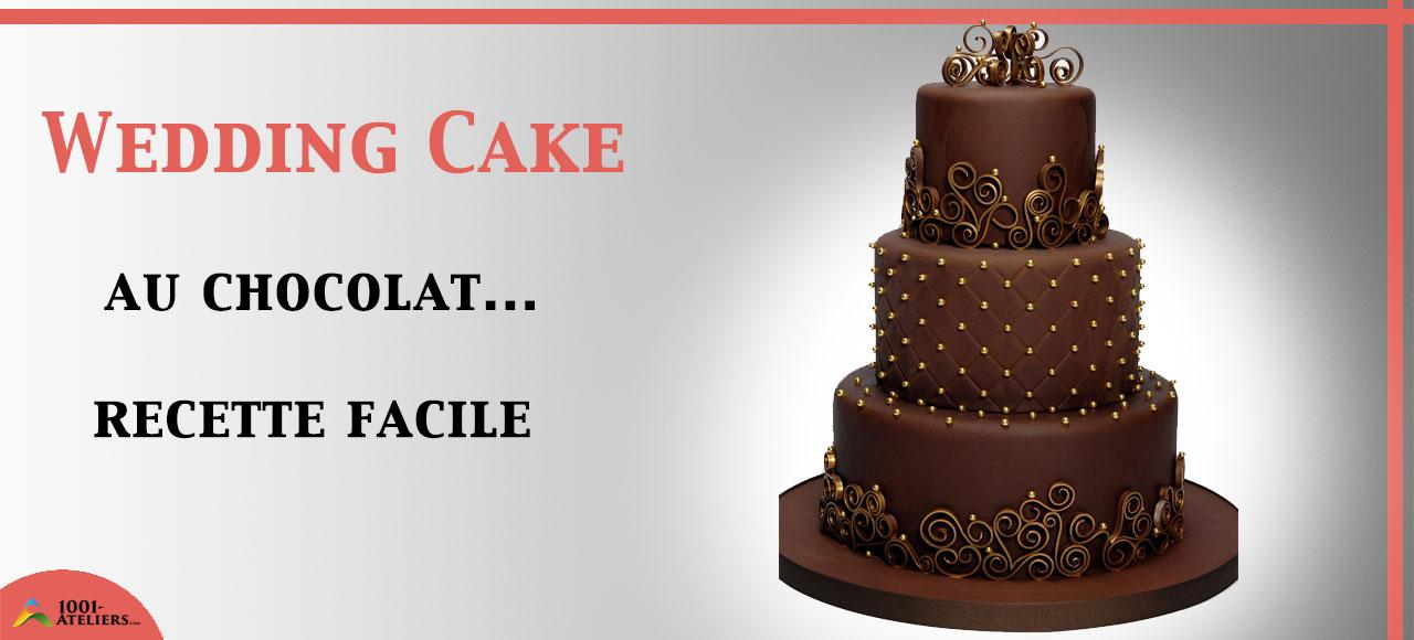 Gateau Wedding Cake Chocolat